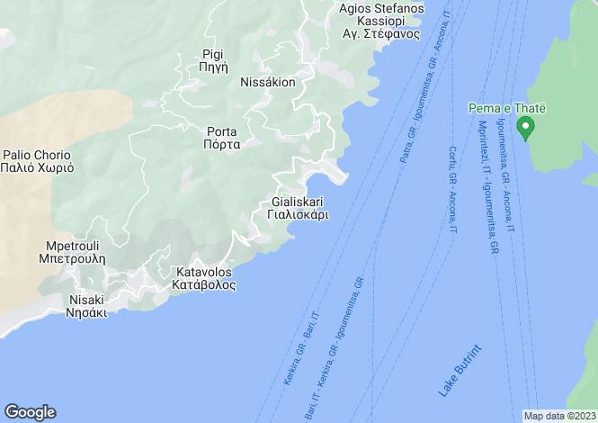 Map for Agni, Corfu, Ionian Islands