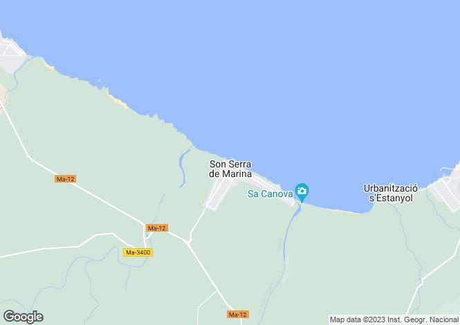 Map for 07459, Son Serra de Marina, Spain