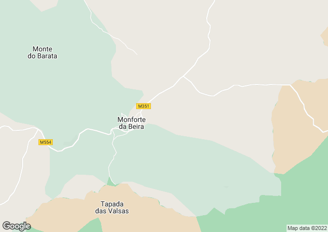 Map for Monforte da Beira, Beira Baixa