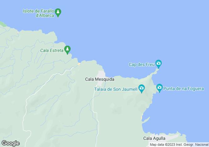 Map for Capdepera, Mallorca, Balearic Islands