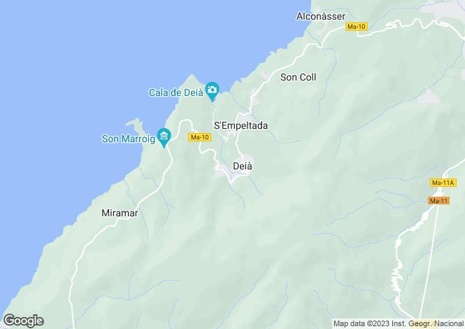 Map for Deià, Mallorca, Balearic Islands