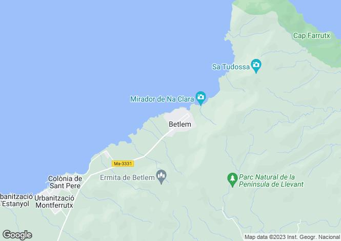 Map for Urbanitzacio Betlem, Artà, Mallorca