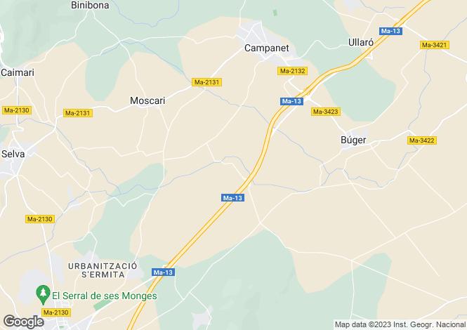 Map for Campanet-Buger, Mallorca, 6 bedroom Finca