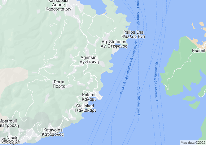Map for Kerasia, Corfu, Ionian Islands