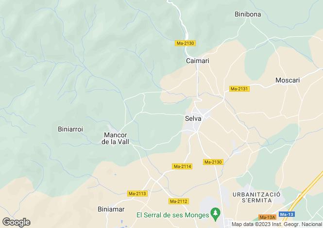 Map for Selva, Mallorca, Balearic Islands