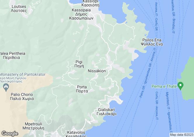 Map for KARIOTIKO HOUSE, Nr Sinies, Corfu