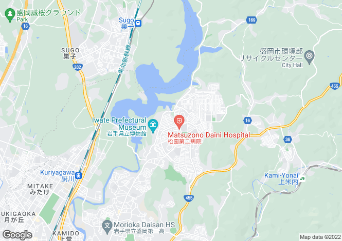 Map for Iwate
