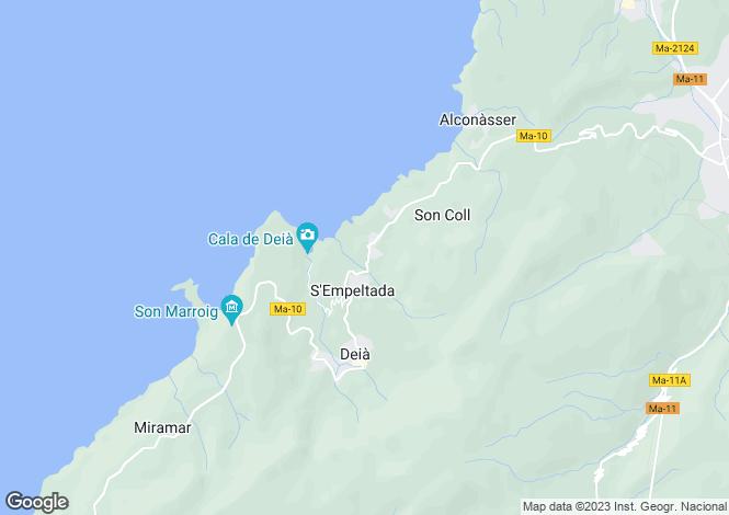 Map for Balearic Islands, Mallorca, Deià