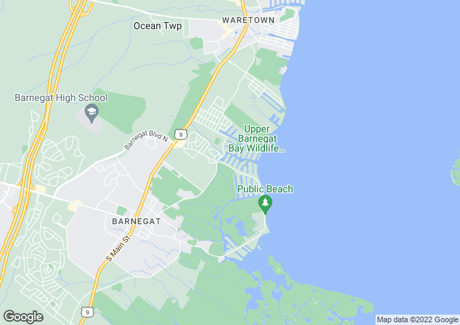 Map for USA - New Jersey, Ocean County, Barnegat