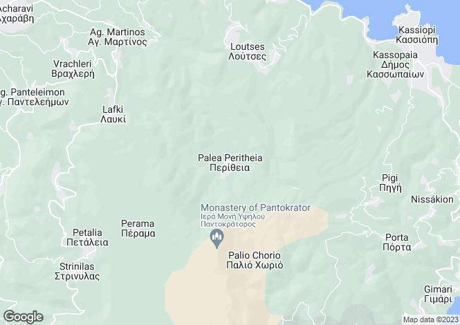 Map for Perithia, Corfu, Ionian Islands