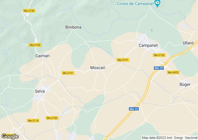 Map for Moscari, Mallorca, Balearic Islands