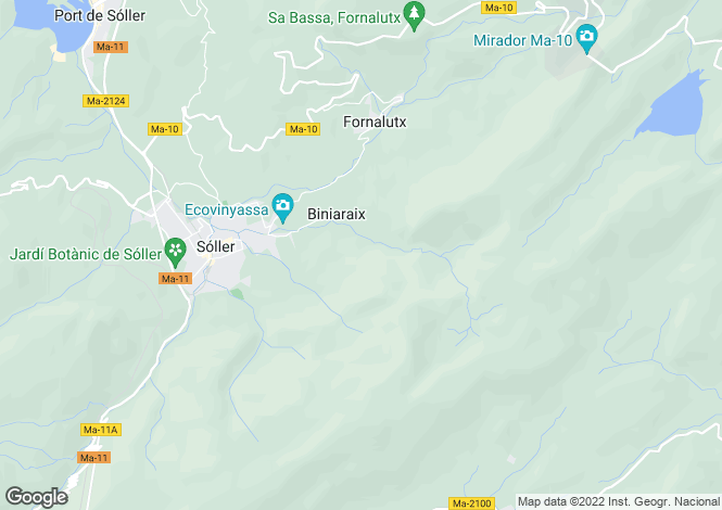 Map for Mallorca, Sóller, Sóller