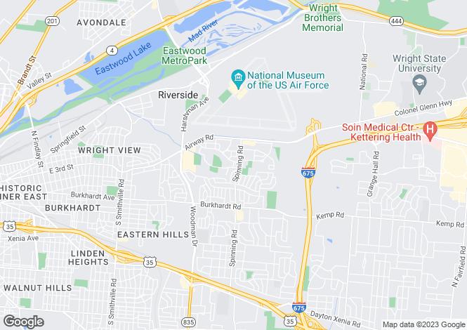 Map for Nevada, Lyon County, Dayton