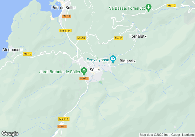 Map for Soller, Spain