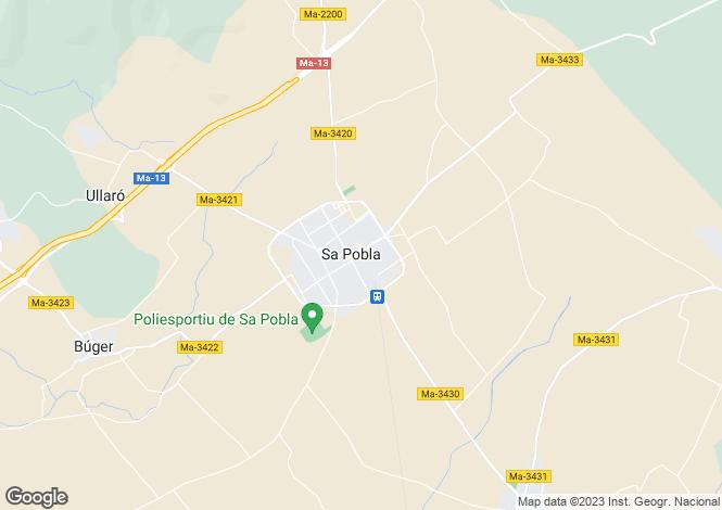 Map for Sa Pobla, Mallorca, Balearic Islands