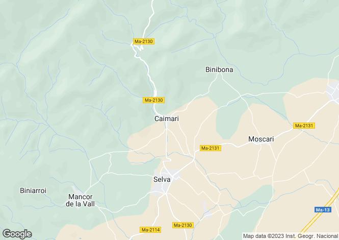 Map for Caimari, Mallorca, Balearic Islands