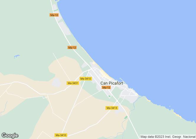 Map for 07458, Playa de Muro, Spain