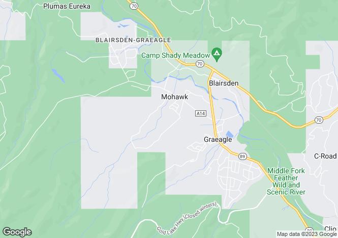 Map for California, Plumas County, Blairsden