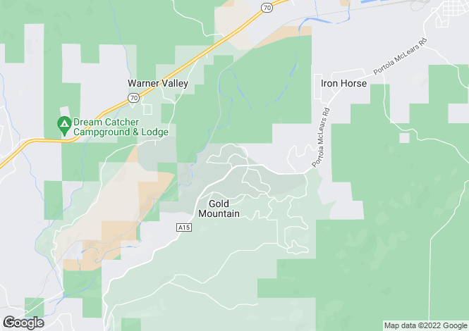 Map for California, Plumas County, Portola