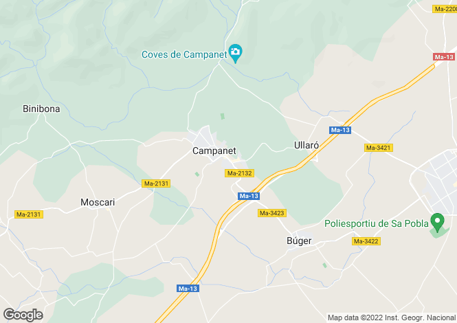 Map for Mallorca, Campanet, Campanet