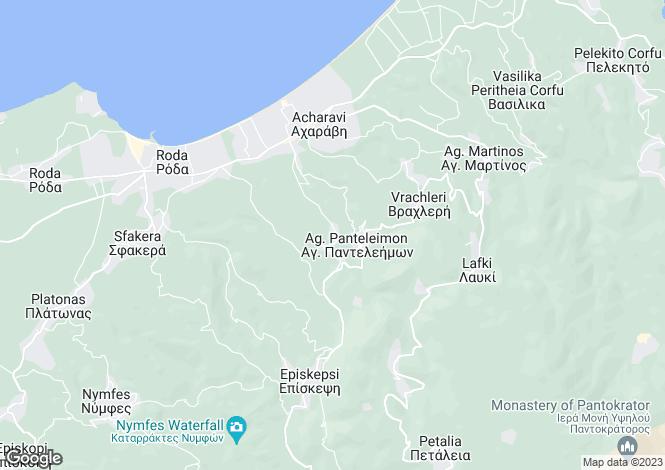 Map for Acharavi, Corfu, Ionian Islands