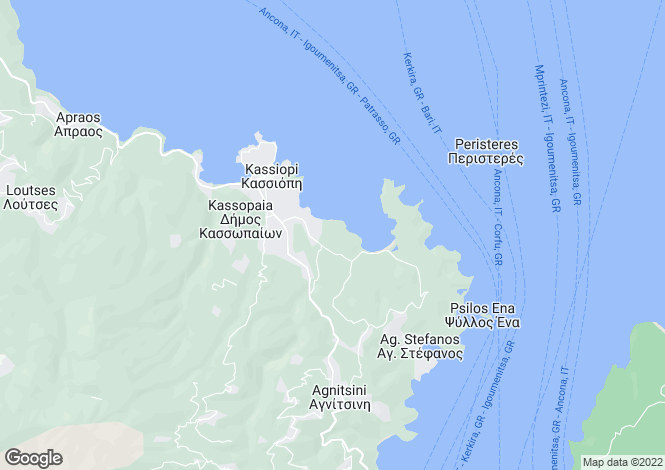 Map for Avlaki, Corfu, Ionian Islands