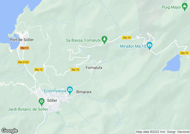 Map for Mallorca, Fornalutx, Fornalutx