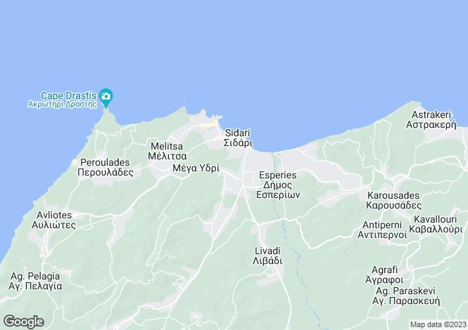 Map for Sidari, Corfu, Ionian Islands