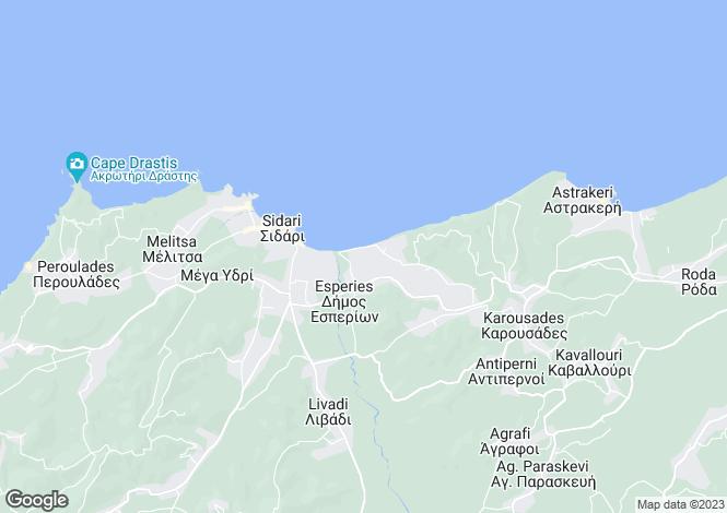 Map for OCEANUS HOUSE, Agios Ioannis, Karoussades