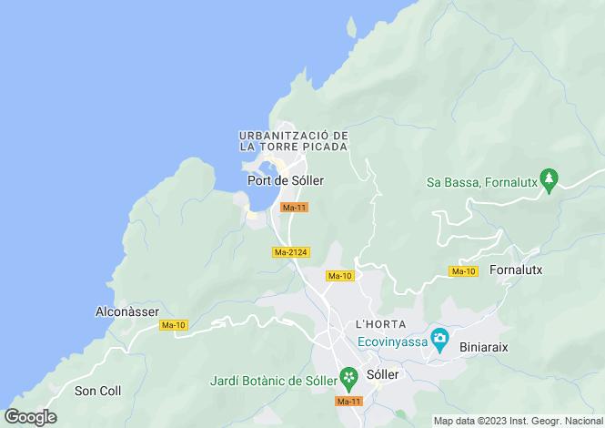 Map for Balearic Islands, Mallorca, Port de Sóller