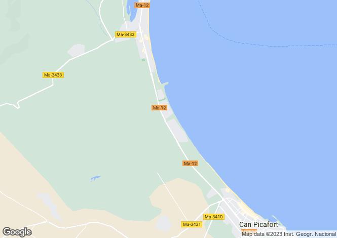 Map for Playa de Muro, Spain