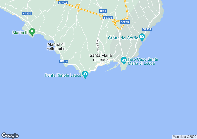 Map for Castrignano del Capo, Lecce, Apulia