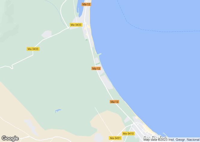 Map for Spain - Balearic Islands, Mallorca, Playa De Muro