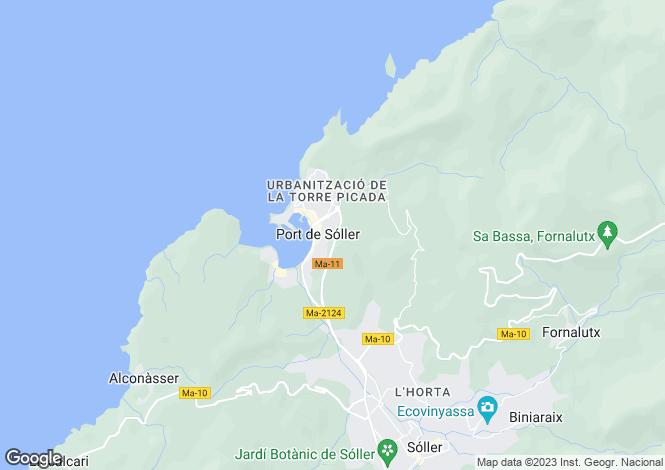 Map for Port de Sóller, Mallorca, Balearic Islands