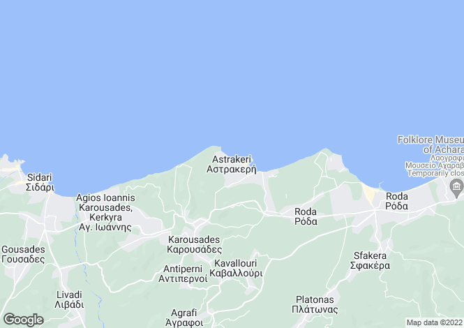 Map for Astrakeri, Corfu, Ionian Islands