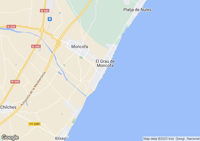 Map for Moncofa, Castellon, Spain