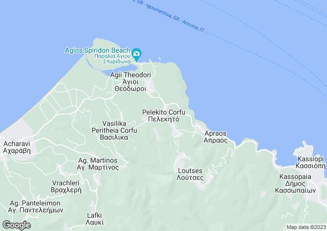 Map for Pelekito, Corfu, Ionian Islands