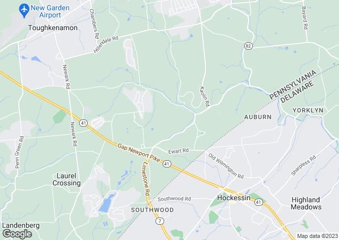 Map for USA - Pennsylvania, Chester County, Avondale