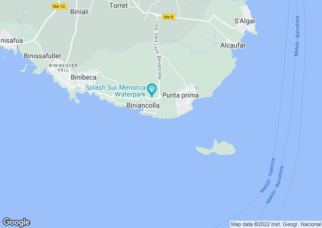 Map for Sant Lluis, Menorca, Balearic Islands