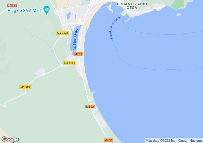 Map for Balearic Islands, Mallorca, Playa De Muro