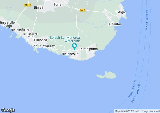 Map for San Luis, Menorca, Balearic Islands
