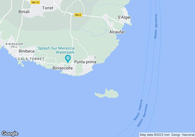Map for Balearic Islands, Menorca, Sant Lluis
