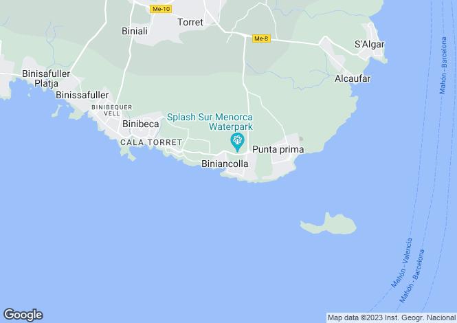 Map for Punta Prima, Menorca, Balearic Islands