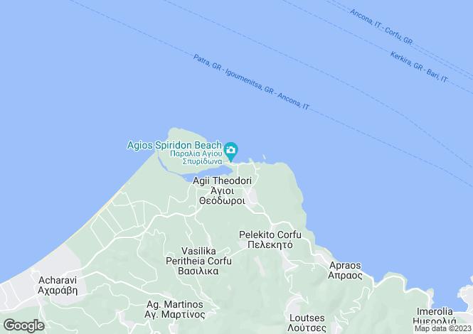 Map for ST. NICHOLAS BEACH HOUSE, Perithia