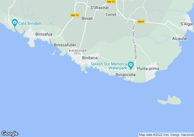 Map for Balearic Islands, Menorca, San Luis
