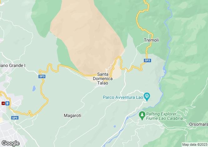 Map for Calabria, Cosenza, Santa Domenica Talao