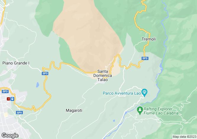 Map for Santa Domenica Talao, Cosenza, Calabria