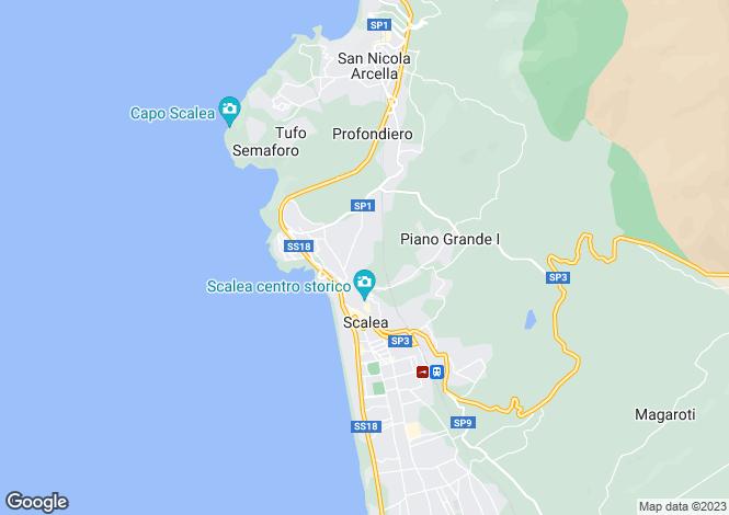 Map for Scalea, Cosenza, Calabria