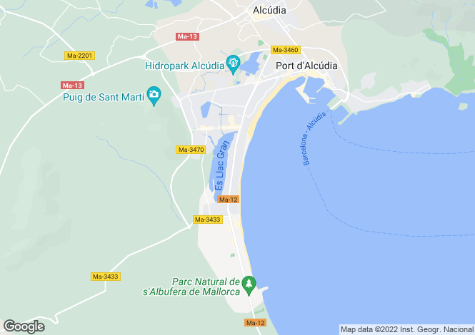 Map for Puerto De Alcúdia, Mallorca, Balearic Islands