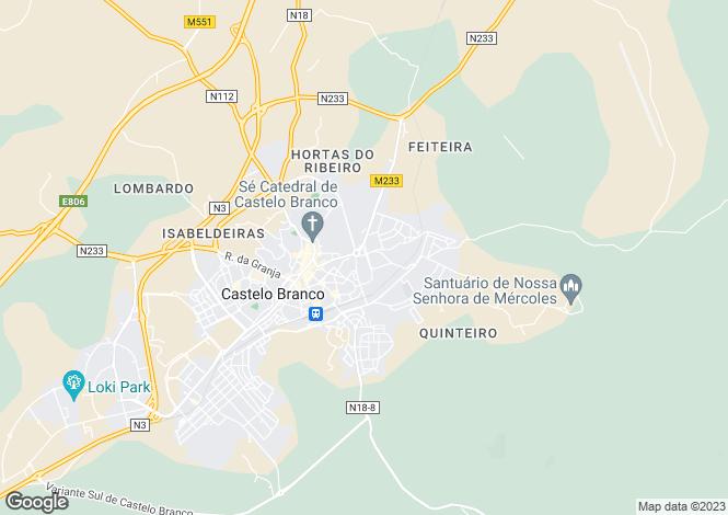 Map for Idanha-a-Nova e Alcafozes, Idanha-a-Nova, Castelo Branco